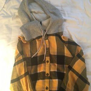 soft flannel hoodie